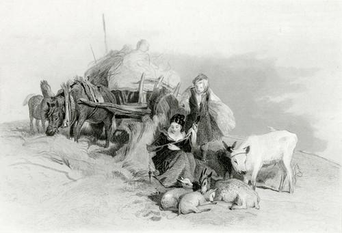 Art Prints of Harvest Time in the Scottish Highlands by Edwin Henry Landseer