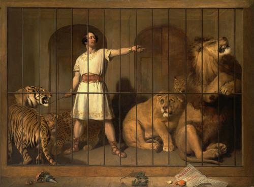 Art Prints of Portrait of Mr. Van Amburgh with His Animals by Edwin Henry Landseer