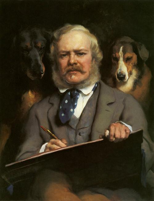 Art Prints of The Connoisseurs II by Edwin Henry Landseer