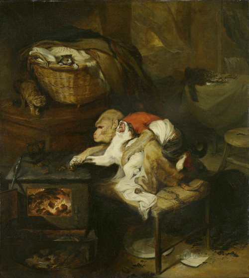 Art Prints of The Cat's Paw by Edwin Henry Landseer