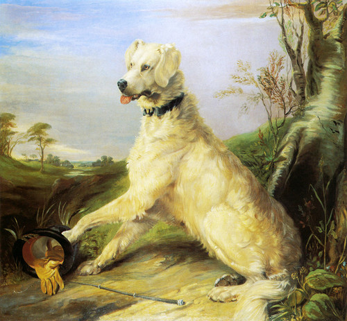 Art Prints of Waiting for Master by Edwin Henry Landseer