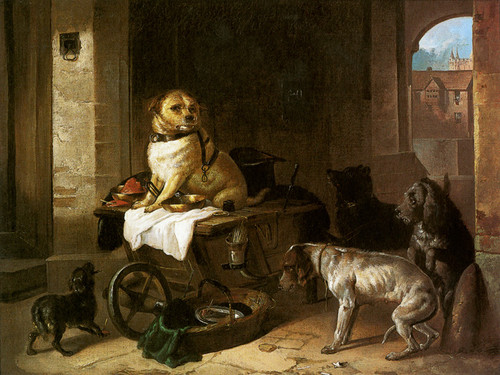 Art Prints of A Jack in Office by Edwin Henry Landseer