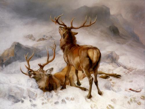 Art Prints of The Fatal Duel by Edwin Henry Landseer