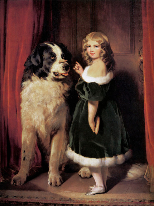Art Prints of Princess Mary and Nelson by Edwin Henry Landseer