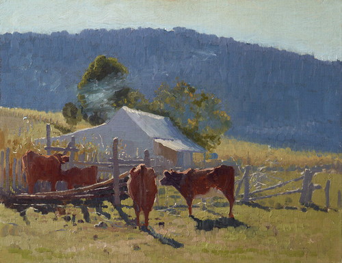 Art Prints of Milking Time, Araluen Valley by Elioth Gruner