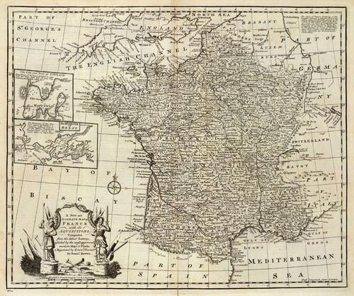 Art Prints of Map of France, 1747 (3733009) by Emanuel Bowen