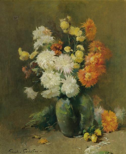 Art Prints of Chrysanthemums by Emil Carlsen