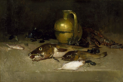 Art Prints of Still Life with Fish by Emil Carlsen
