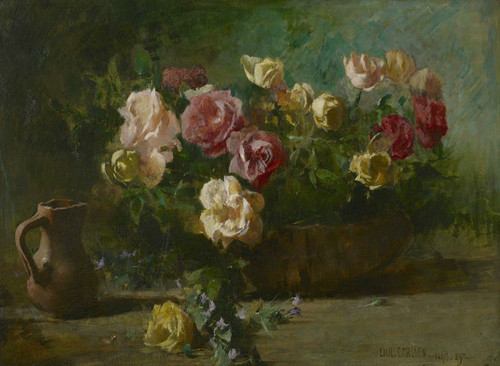 Art Prints of Still Life with Flowers by Emil Carlsen