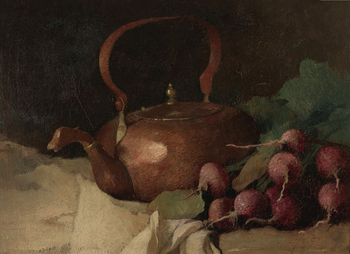 Art Prints of Still Life with radishes by Emil Carlsen