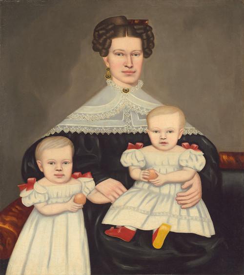 Art Prints of Mrs Paul Smith Palmer and Her Twins by Erastus Salisbury Field