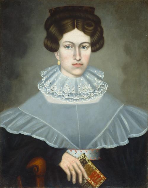 Art Prints of Woman Holding a Book by Erastus Salisbury Field