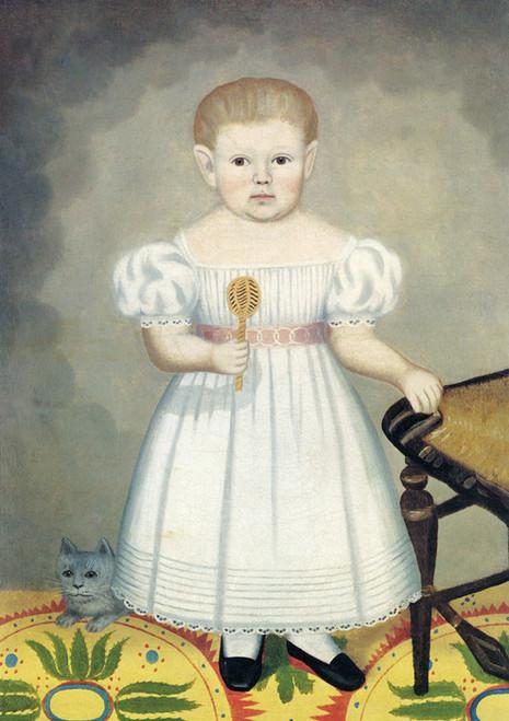 Art Prints of Girl Holding Rattle by Erastus Salisbury Field