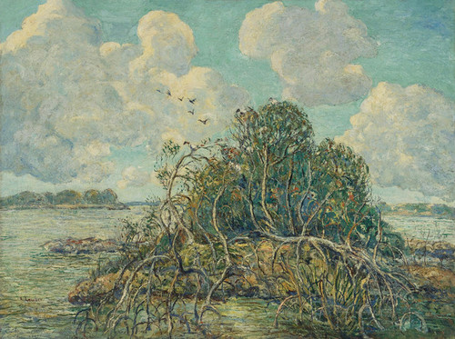 Art Prints of Drifting Clouds, Florida by Ernest Lawson