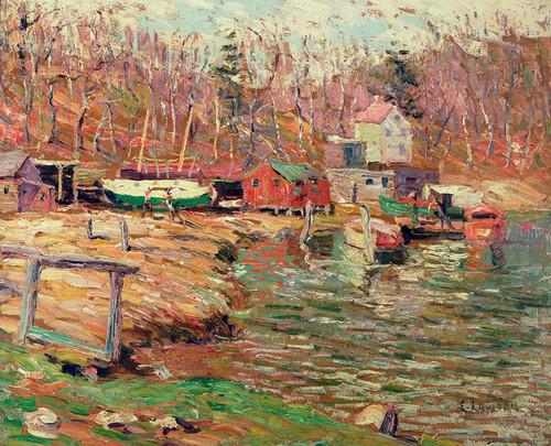 Art Prints of Harlem River Scene by Ernest Lawson