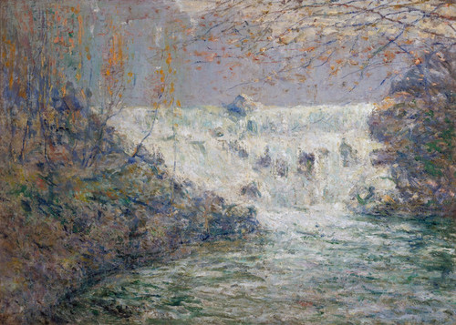 Art Prints of The Waterfall Shore Mill, Tennessee by Ernest Lawson