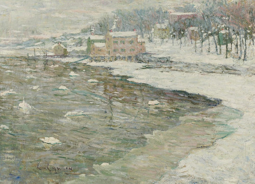 Art Prints of Winter Reflections by Ernest Lawson