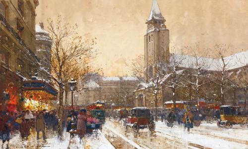 Art Prints of Boulevard Saint Germain, Paris by Eugene Galien-Laloue