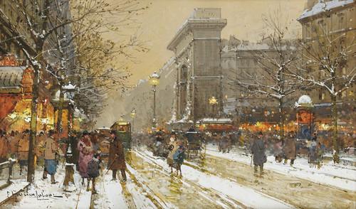 Art Prints of Boulevard de Bonne Nouvelle in Paris by Eugene Galien-Laloue