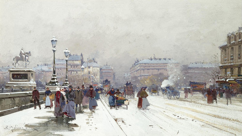 Art Prints of In the New Snow by Eugene Galien-Laloue