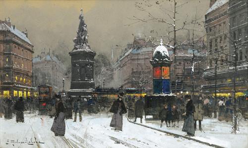 Art Prints of La Place de Clichy, Paris by Eugene Galien-Laloue