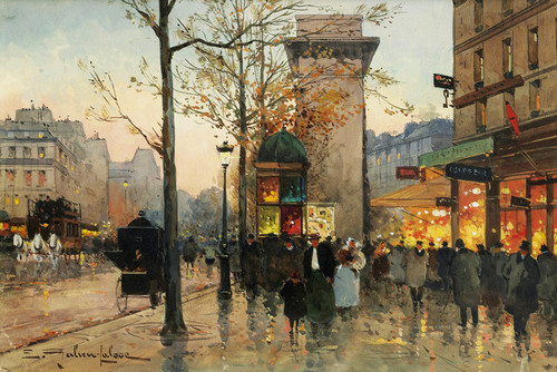Art Prints of Activities around Porte Saint Denis by Eugene Galien-Laloue