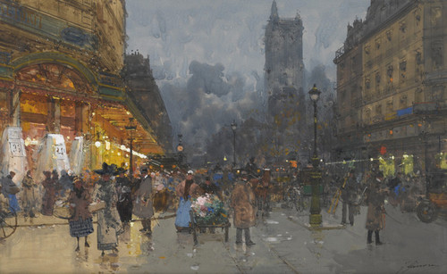 Art Prints of Paris, Rue de Rivoli by Eugene Galien-Laloue