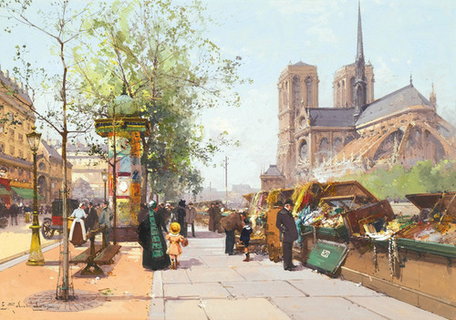 Art Prints of Norte Dame, Paris by Eugene Galien-Laloue