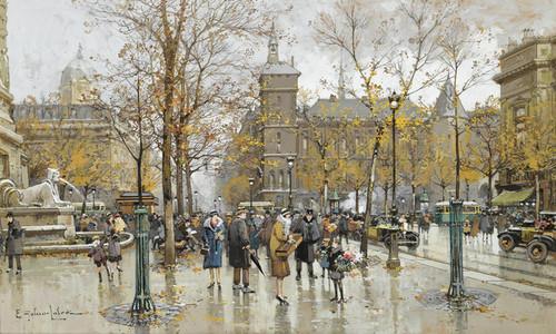 Art Prints of Place du Chatelet by Eugene Galien-Laloue