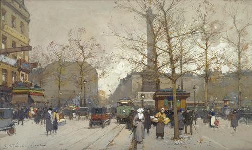 Art Prints of Place de la Bastille II by Eugene Galien-Laloue