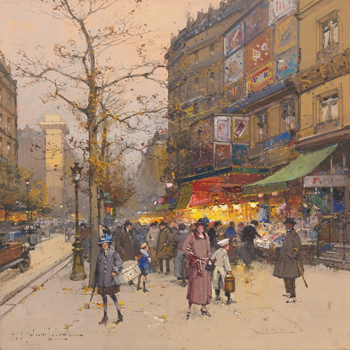 Art Prints of Porte Saint Martin by Eugene Galien-Laloue