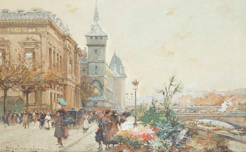 Art Prints of The Flower Market by Eugene Galien-Laloue