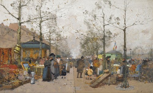 Art Prints of Scrap Market by Eugene Galien-Laloue