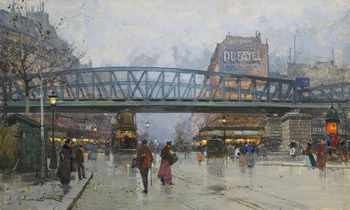 Art Prints of The Metro, Paris by Eugene Galien-Laloue