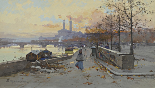Art Prints of The Wharf by Eugene Galien-Laloue
