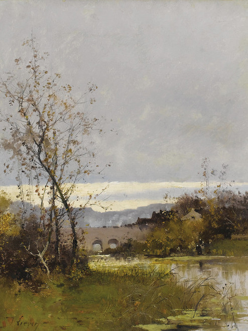 Art Prints of Along the Riviere, Normandie by Eugene Galien-Laloue