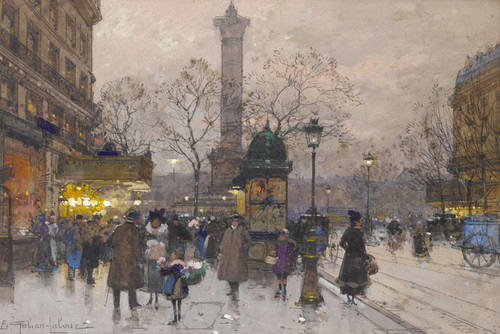 Art Prints of La Bastille by Eugene Galien-Laloue