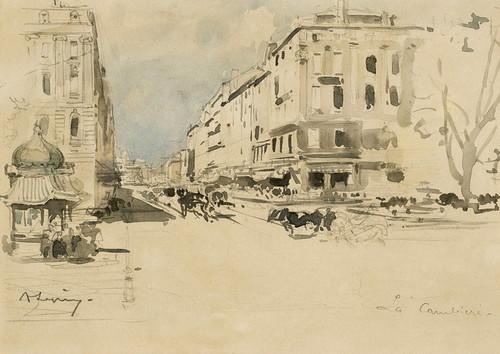 Art Prints of Marseille la Canebiere by Eugene Galien-Laloue