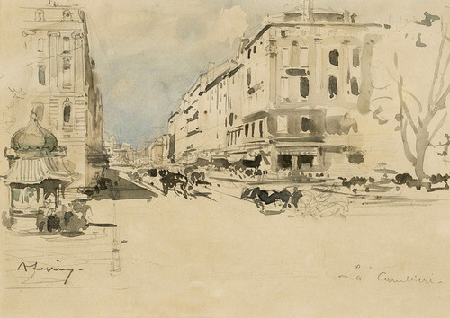 Art Prints of Marseille la Canebiere by Eugene Galien-Laloue