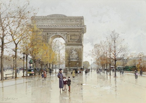 Art Prints of Arc de Triomphe, Paris by Eugene Galien-Laloue