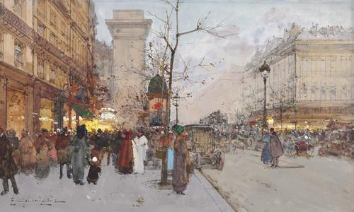 Art Prints of Paris, Porte Saint Denis by Eugene Galien-Laloue