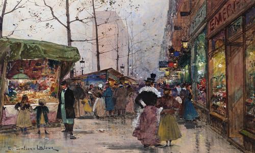 Art Prints of Paris, Porte Saint Denis II by Eugene Galien-Laloue