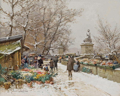Art Prints of Paris, Un Coin de Quai by Eugene Galien-Laloue