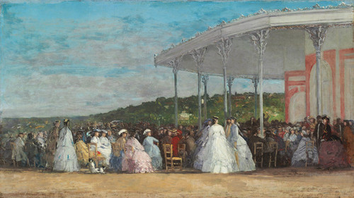Art Prints of Concert at the Casino of Deauville by Eugene Boudin