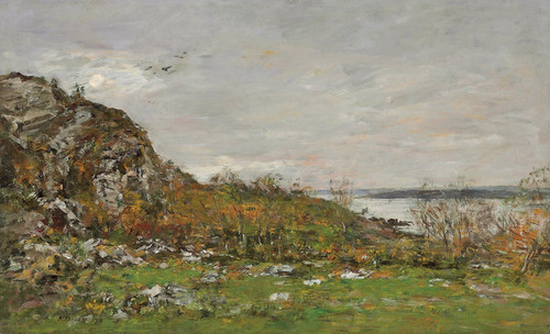 Art Prints of Mouth of the Elorn Around the Bay of Brest by Eugene Boudin