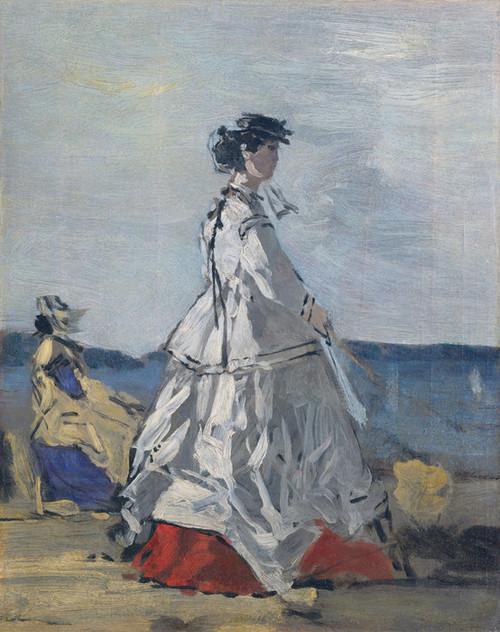 Art Prints of The Princess Pauline de Metternich on the Beach by Eugene Boudin