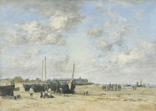 Art Prints of Seashore at Berck by Eugene Boudin
