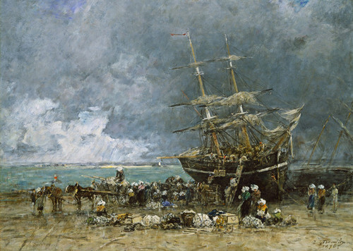 Art Prints of Return of the Neuvier by Eugene Boudin