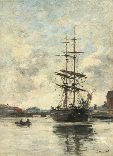 Art Prints of Ship on the Touques by Eugene Boudin