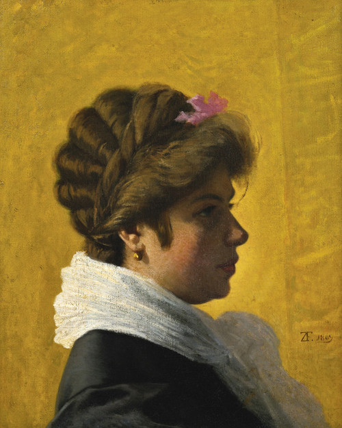 Art Prints of Portrait of a Woman by Federico Zandomeneghi